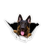 German Shepherd Crack Sticker - Single (Vertical) front