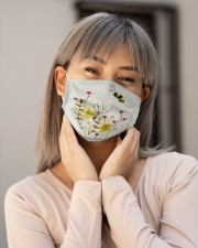 BEE FLOWER FACE Cloth face mask aos-face-mask-lifestyle-17