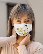 BEE FLOWER FACE Cloth face mask aos-face-mask-lifestyle-18