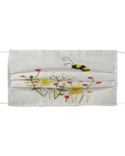 BEE FLOWER FACE Cloth face mask front