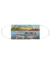 Life is better at the Lake Cloth face mask aos-face-mask-coverlet-lifestyle-front-01