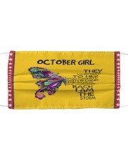OCTOBER GIRL FACE Cloth face mask front