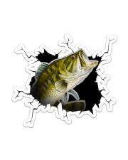 Bass Fish Crack Sticker - Single (Vertical) front