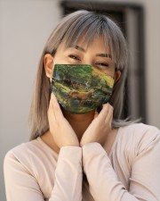 Deer in Forest Cloth face mask aos-face-mask-lifestyle-17