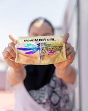 NOVEMBER GIRL FACE Cloth face mask aos-face-mask-lifestyle-07