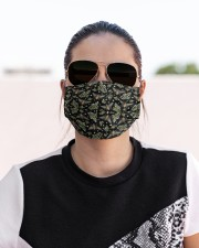 BEE FLOWERS AND GRASS FACE Cloth face mask aos-face-mask-lifestyle-02