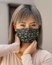 BEE FLOWERS AND GRASS FACE Cloth face mask aos-face-mask-lifestyle-18