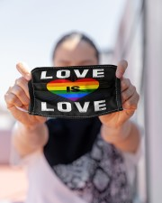 LGBT Love Mask Face Cloth face mask aos-face-mask-lifestyle-07