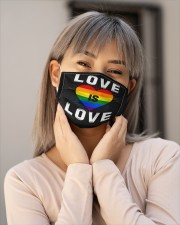 LGBT Love Mask Face Cloth face mask aos-face-mask-lifestyle-17