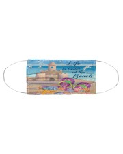 Life is better at the Beach Face Cloth face mask aos-face-mask-coverlet-lifestyle-front-01