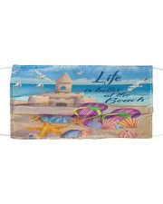 Life is better at the Beach Face Cloth face mask front