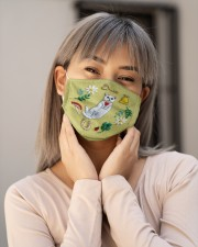 CAT FLOWER FACE Cloth face mask aos-face-mask-lifestyle-17
