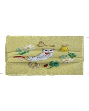 CAT FLOWER FACE Cloth face mask front