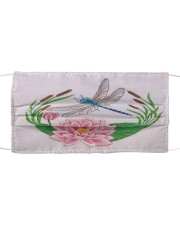 DRAGONGLY FLOWER FACE Cloth face mask front