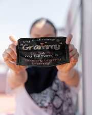 My nickname is Grammy Cloth face mask aos-face-mask-lifestyle-07