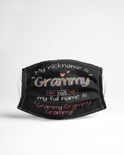 My nickname is Grammy Cloth face mask aos-face-mask-lifestyle-22