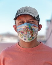 Beach love Dogs Cloth face mask aos-face-mask-lifestyle-06