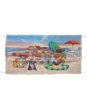 Beach love Dogs Cloth face mask front