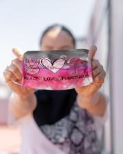 Peace Love Flamingo Cloth face mask aos-face-mask-lifestyle-07