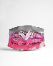 Peace Love Flamingo Cloth face mask aos-face-mask-lifestyle-22