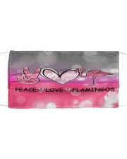 Peace Love Flamingo Cloth face mask front