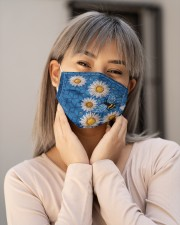 BEEHIVE BLUE FLOWER FACE Cloth face mask aos-face-mask-lifestyle-17