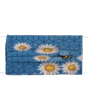 BEEHIVE BLUE FLOWER FACE Cloth face mask front