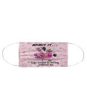 FLAMINGO FACE Cloth face mask aos-face-mask-coverlet-lifestyle-front-01