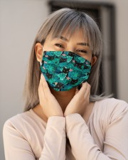 BLACK CAT HAWAII FLOWER FACE Cloth face mask aos-face-mask-lifestyle-17
