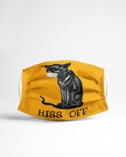Black Cat HISS OFF  Cloth face mask aos-face-mask-lifestyle-22