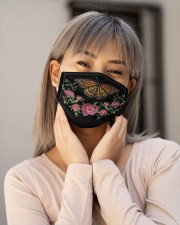 BUTTERFLY FLOWER FACE Cloth face mask aos-face-mask-lifestyle-17