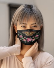 BUTTERFLY FLOWER FACE Cloth face mask aos-face-mask-lifestyle-18