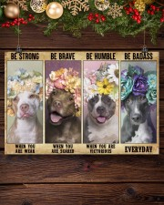 Pitbull be strong 24x16 Poster aos-poster-landscape-24x16-lifestyle-28