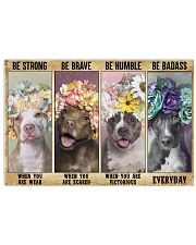 Pitbull be strong 24x16 Poster front