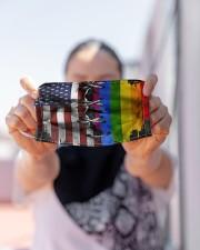 LGBT Flag Face Cloth face mask aos-face-mask-lifestyle-07