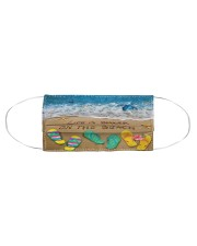 Life is better on the Beach Face Cloth face mask aos-face-mask-coverlet-lifestyle-front-01