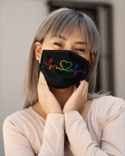 LGBT Heartbeat Mask Face Cloth face mask aos-face-mask-lifestyle-17