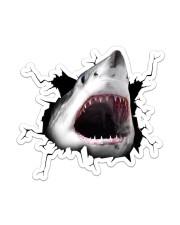Shark Crack Sticker - Single (Vertical) front