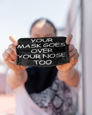 YOUR MASK GOES OVER YOUR NOSE TOO FACE Cloth face mask aos-face-mask-lifestyle-07