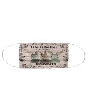 RABBIT LIFE IS BETTER FACE Cloth face mask aos-face-mask-coverlet-lifestyle-front-01