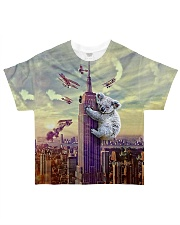 Koala Climbing Building 3D All-over T-Shirt front