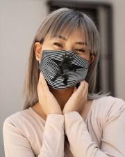 Black Cat Climb Curtain  Cloth face mask aos-face-mask-lifestyle-17