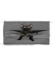 Black Cat Climb Curtain  Cloth face mask front