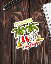 Fa la la la Flip Flop Sticker - Single (Vertical) aos-sticker-single-vertical-lifestyle-front-05