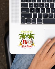 Fa la la la Flip Flop Sticker - Single (Vertical) aos-sticker-single-vertical-lifestyle-front-11