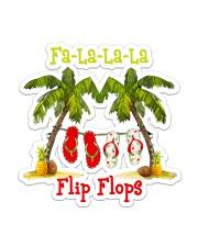 Fa la la la Flip Flop Sticker - Single (Vertical) front
