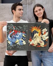 Typhlosion and Feraligatr 24x16 Poster poster-landscape-24x16-lifestyle-21