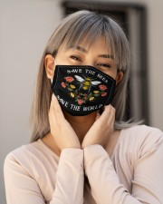 SAVE THE BEES SAVE THE WORLD Cloth face mask aos-face-mask-lifestyle-17