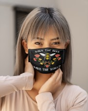 SAVE THE BEES SAVE THE WORLD Cloth face mask aos-face-mask-lifestyle-18