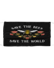 SAVE THE BEES SAVE THE WORLD Cloth face mask front